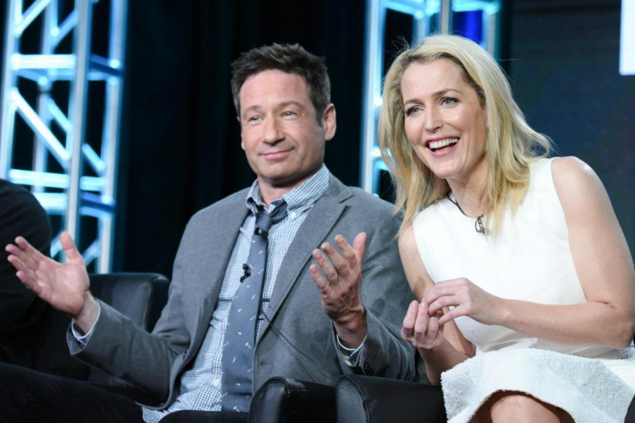 David Duchovny et Gillian Anderson... (photo Richard Shotwell, archives associated press)