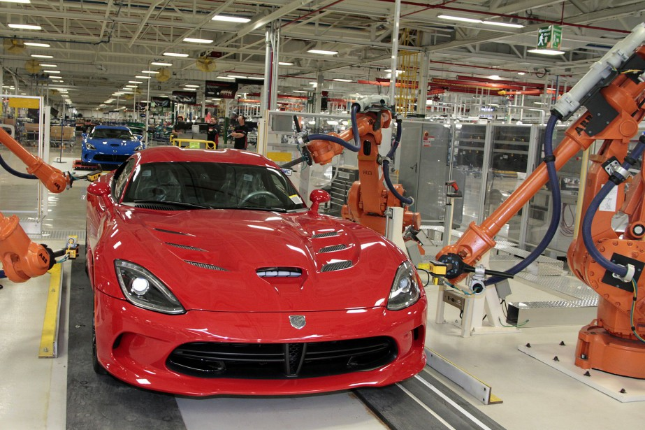 Une Dodge Viper dans l'usine Chrysler de l'avenue... (Photo FCA)