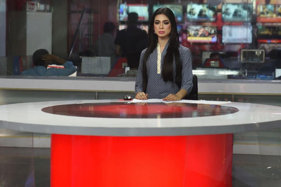 L'ex-mannequin Marvia Malik est devenue la première présentatrice... (Photo AFP)