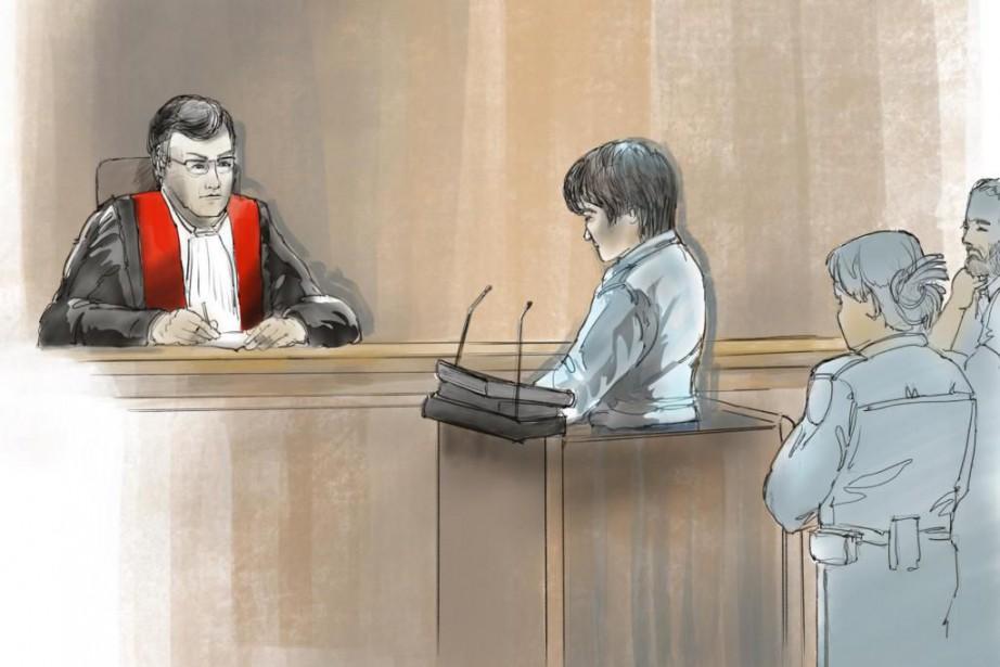 Alexandre Bissonnette a plaidé coupable lundi devant le... (ILLUSTRATION HBÉ, COLLABORATION SPÉCIALE)