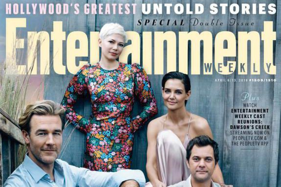James Van Der Beek, Michelle Williams, Katie Holmes... (image fournie parEntertainment Weekly)