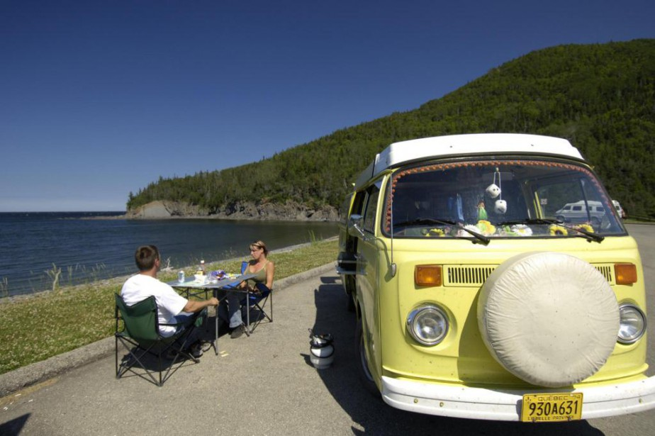 Photo prise en Gaspésie... (Photo fournie par la Fédération québécoise de camping et de caravaning)