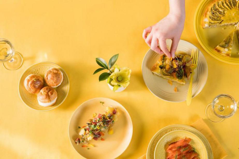 Un brunch de Pâques où le jaune est... (Photo Marco Campanozzi, La Presse)