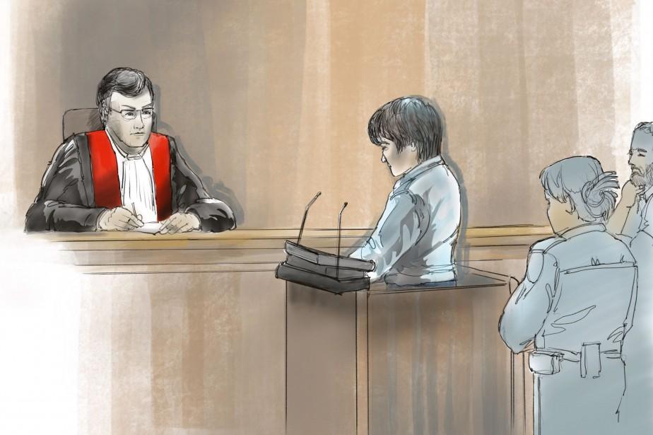 Devant le juge François Huot, Alexandre Bissonnette a... (Illustration HBé, collaboration spéciale)