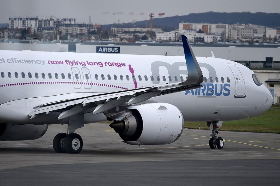 Un appareil A321neo Long Range.... (ERIC PIERMONT, archives AFP)