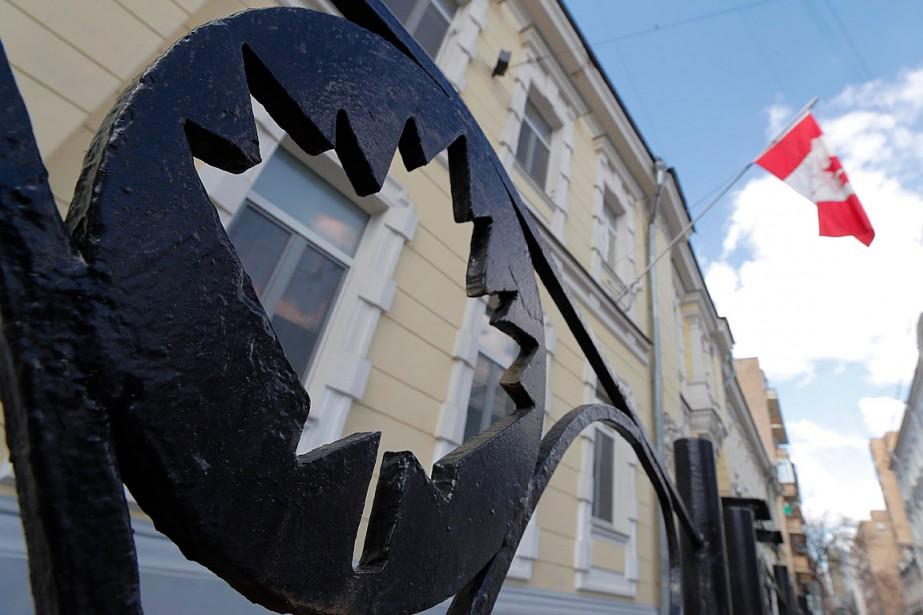 L'ambassade du Canada à Moscou... (PHOTO MAXIM SHEMETOV, ARCHIVES REUTERS)