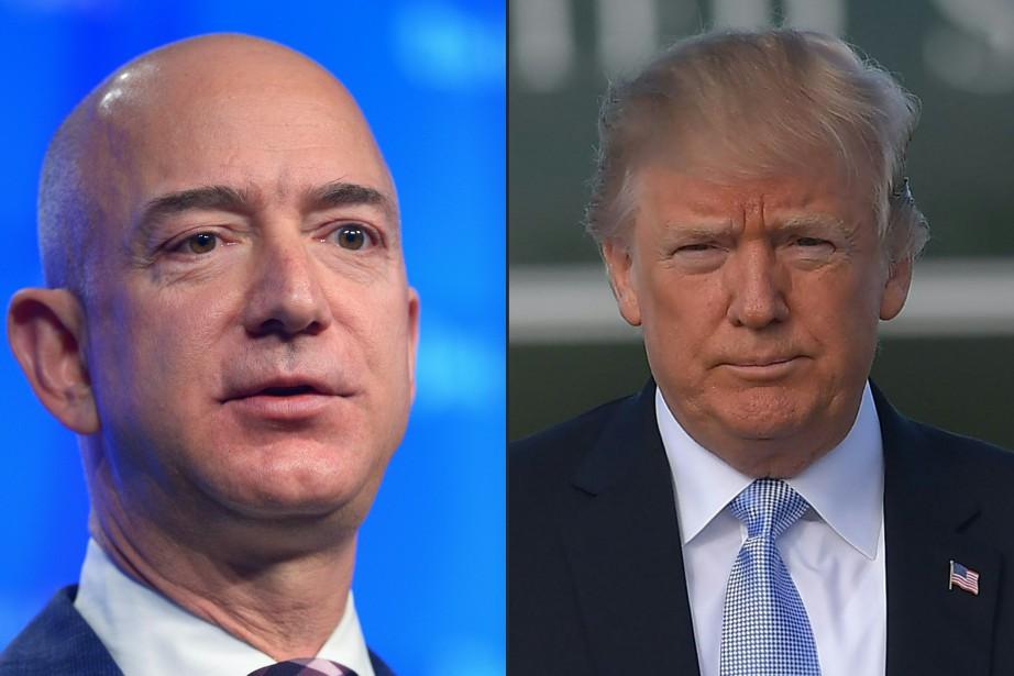 Le patron d'Amazon et propriétaire du Washington Post... (PHOTOS ARCHIVES AFP)