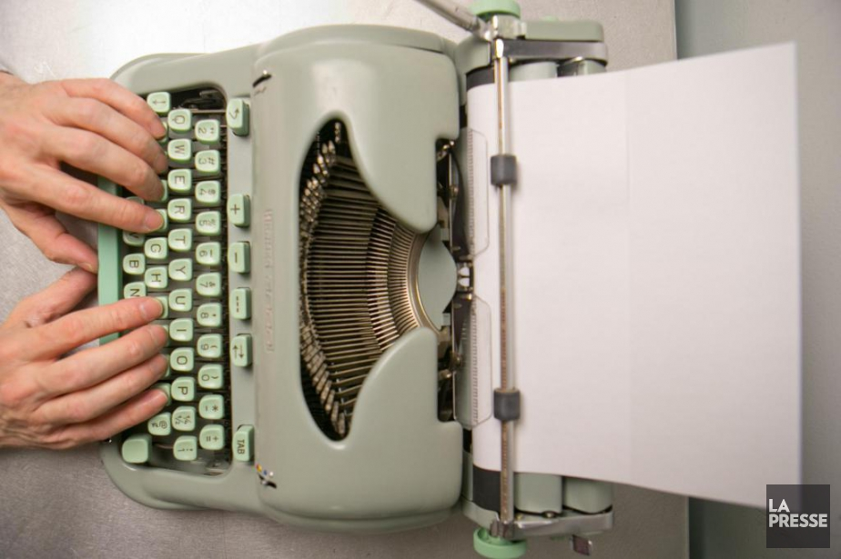 La machine à écrire reprend ses lettres de... (PHOTO DAVID BOILY, LA PRESSE)
