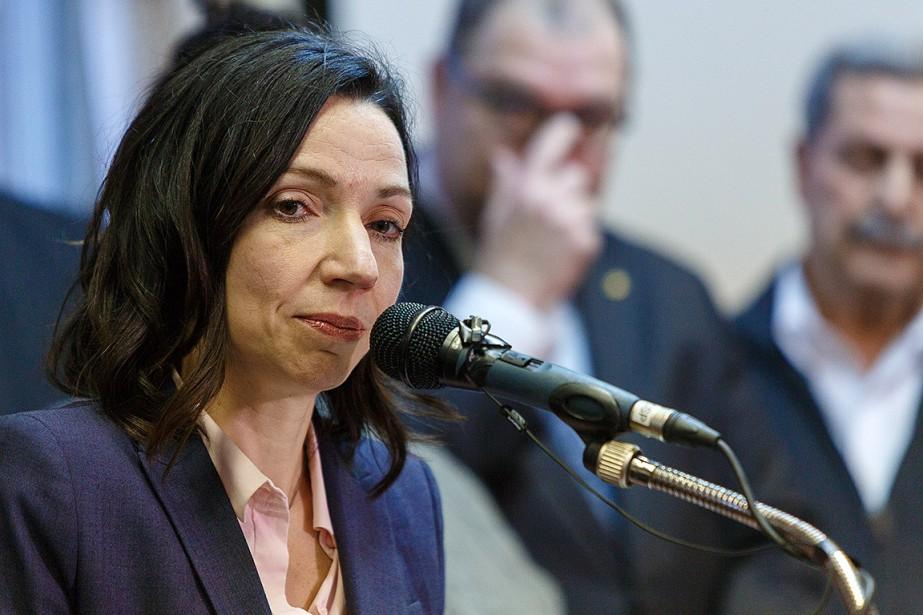 Martine Ouellet, lors d'une conférence de presse le... (ULYSSE LEMERISE, COLLABORATION SPECIALE)