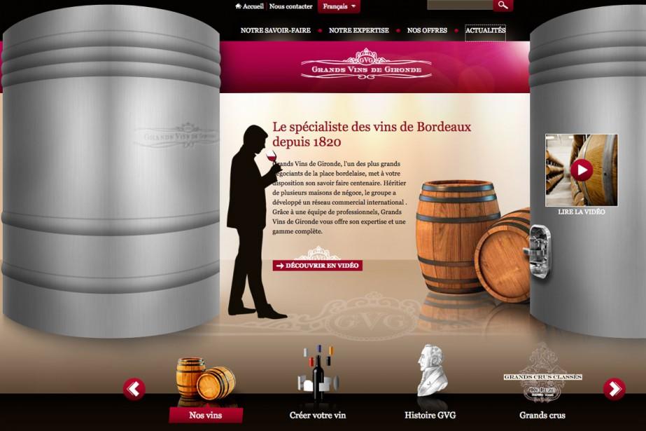 La société de négoce Grands vins de Gironde (GVG) a été... (Capture d'écran)