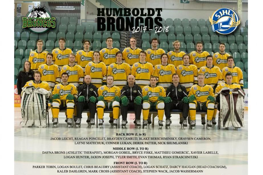 L'équipe 2017-2018 des Broncos d'Humboldt.... (Photo archives Reuters)
