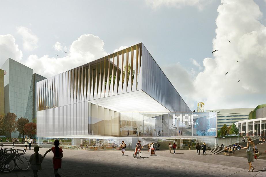 Vue du futur Musée d'art contemporain de Montréal... (Photo Saucier+Perrotte Architectes / GLCRM & Associés Architectes, fournie par le MAC)