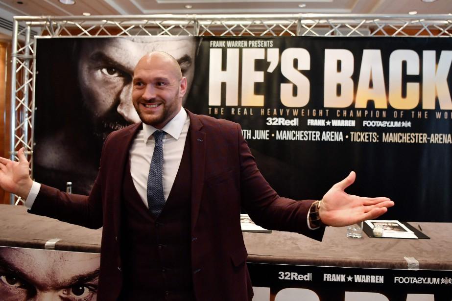 Le boxeur britannique Tyson Furyvient de purger une... (Photo Ben Stansall, AFP)