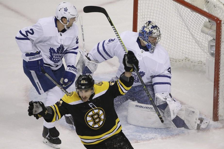 Les Maple Leafs de Toronto avaient mis l'accent à l'aube du match... (PHOTO AP)