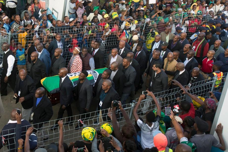 À la veille de cette cérémonie, le cercueil... (Photo Jerome Delay, Associated Press)