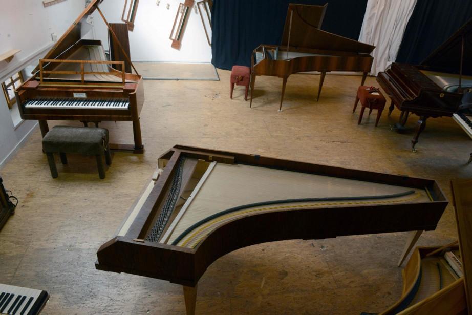 Depuis 1998, plus de 200 copies de pianos... (Photo AFP)