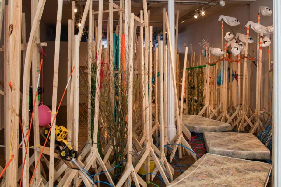 Vue de l'installation NSPSLL!, présentée jusqu'au 21 avril... (PhotoMichel Dubreuil, fournie par Action Art Actuel)