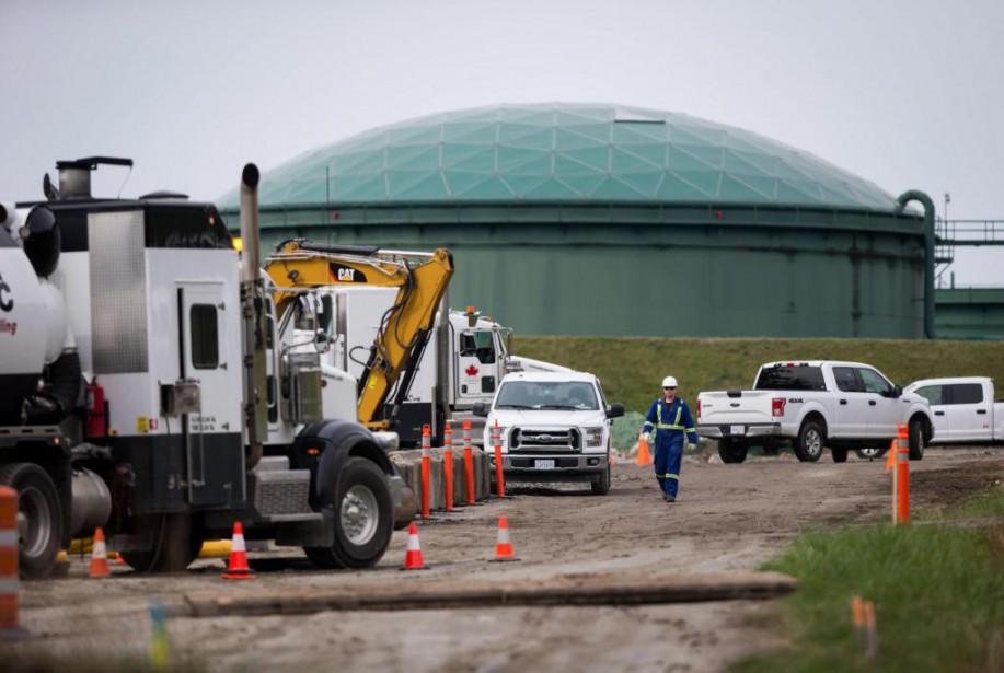 Des travaux préparatoires ont lieu sur le site... (PHOTO DARRYL DYCK, ARCHIVES LA PRESSE CANADIENNE)