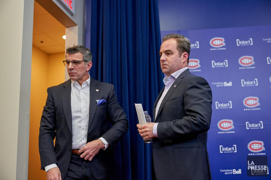 Lundi, Marc Bergevin et Geoff Molson ont rencontré... (Photo André Pichette, La Presse)