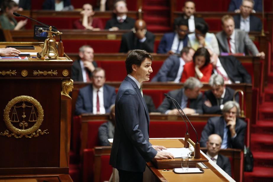 Lors d'un discours devant l'Assemblée nationale française, mardi,... (AP)