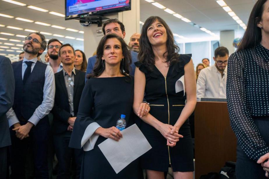 Les journalistes du New York Times Jodi Kantor... (PHOTOHIROKO MASUIKE, THE NEW YORK TIMES)