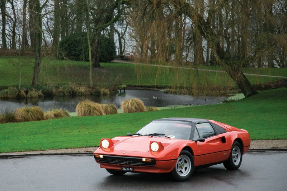 La Ferrari 308 GTS 1978 ayant appartenu à Gilles Villeneuve. (photos : RM Sotheby's)