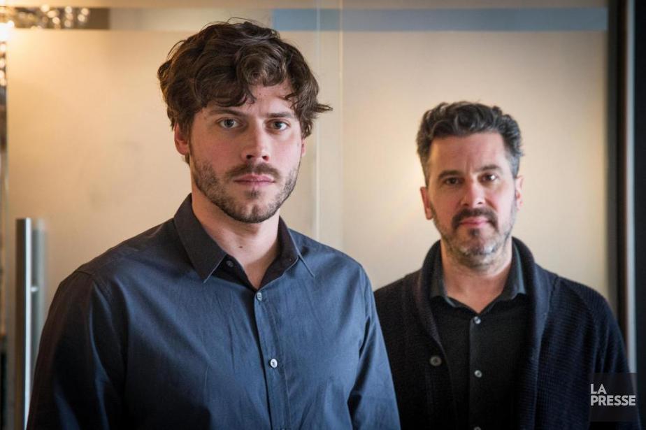 Le comédien François Arnaud et le réalisateur d'Origami,Patrick... (photo PATRICK SANFAçON, LA PRESSe)