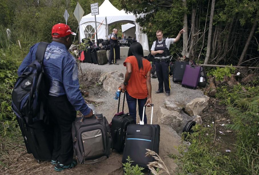 Le nombre de demandeurs d`asile ayant franchi illégalement la frontière