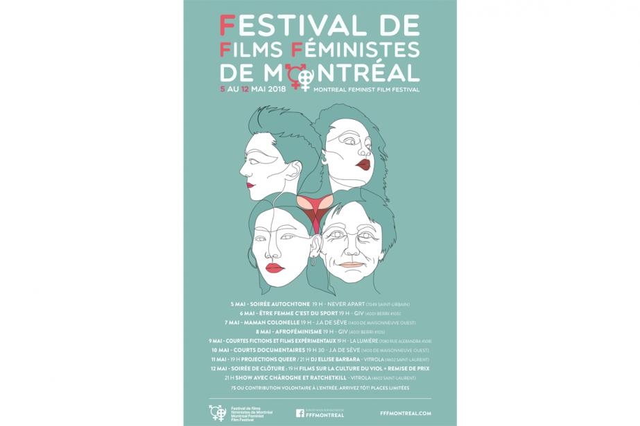 L'affiche du2eFestival de filmsféministes de Montréal... (Image fournie par le festival)