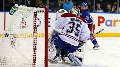 Le centre des Canadiens disputait un match grandiose avant de rater sa sortie...