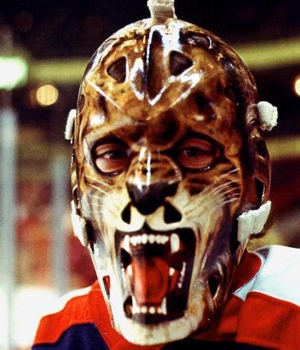Le masque de Gilles Gratton, des Rangers de...