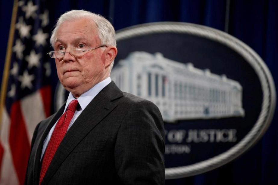 Le procureur général des États-Unis, JeffSessions, a remercié... (Photo JoshuaRoberts, archives Reuters)