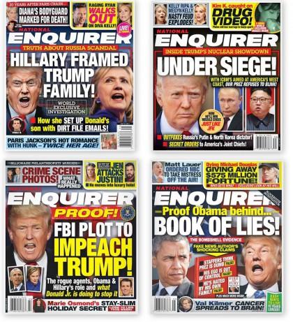 Le National Enquirer s\'intéresse à la politique comme...