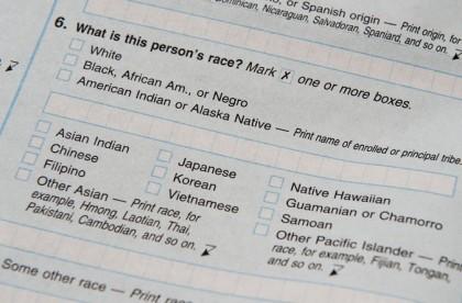 Une portion du recensement américain de 2010. (Photo...