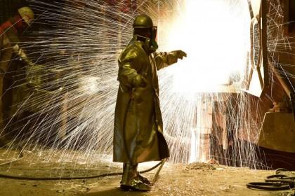 Une aciérie en Allemagne, un des pays susceptibles...