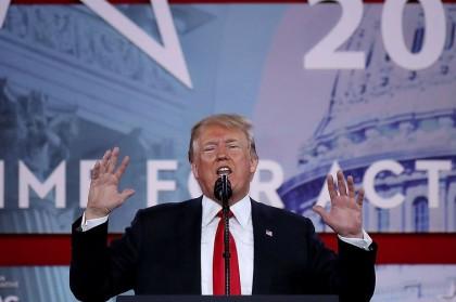Donald Trump a prononcé vendredi un discours devant...