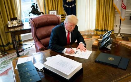 Donald Trump a ratifié ce matin dans le...