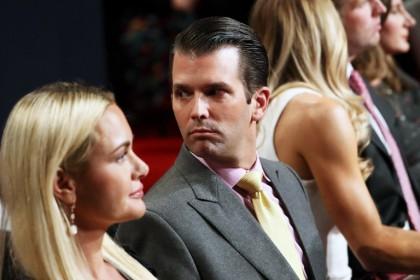 Donald Trump fils lors du troisième débat présidentiel...