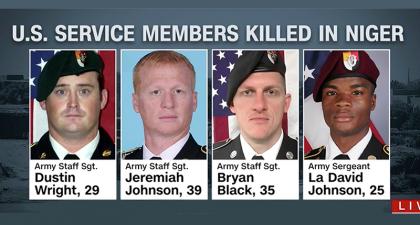 Il y a deux semaines, quatre soldats d'élite appartenant aux Green Berets ont...