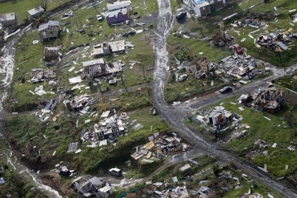 Une image de la destruction créée par l'ouragan...