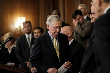 Mitch McConnell, chef de la majorité au Sénat,...