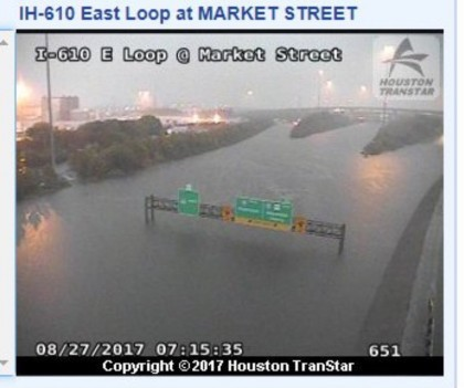 Le même endroit à Houston, aujourd'hui et avant l'arrivée de la tempête...