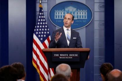 Stephen Miller, conseiller à la Maison-Blanche, a défendu...