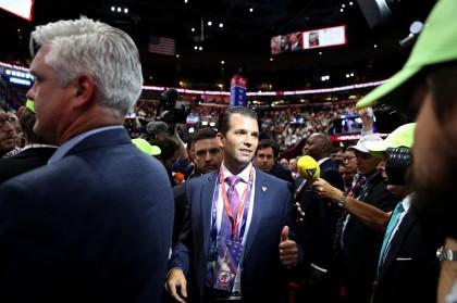 Donald Trump fils a assisté à la convention...