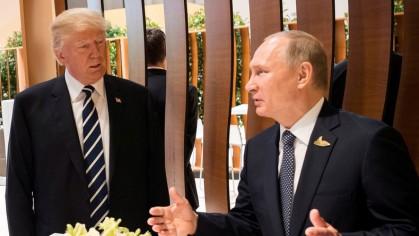 Donald Trump et Vladimir Poutine lors du G20...