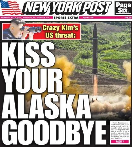 Le New York Post traite à sa façon la nouvelle du premier lancement...