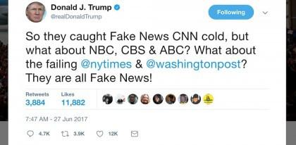 «Donc, ils ont pris CNN en flagrant délit, mais qu'en est-il de NBC, CBS & ABC?...