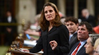 Chrystia Freeland, chef de la diplomatie canadienne, a...