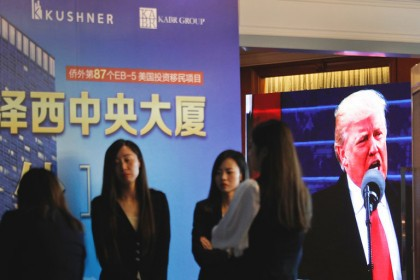 Le kiosque d\'une activité organisée à Pékin par...