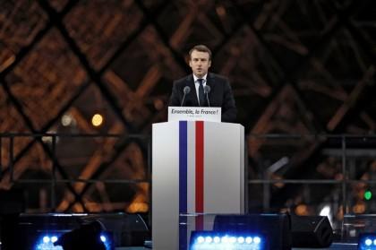 Emmanuel Macron a célébré son élection à la...